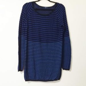 Gap Large Crew Neck Striped Long Sweater